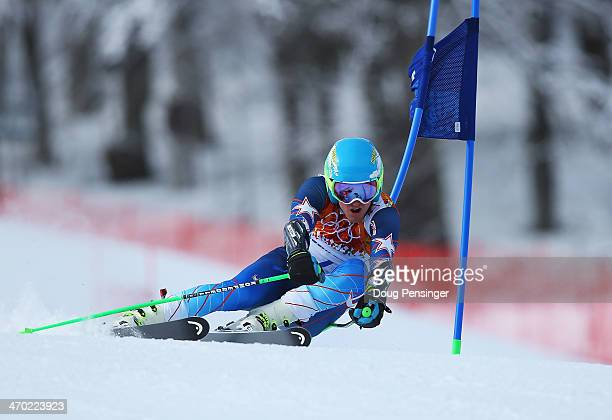 Ted Ligety of the United States in action during the Alpine Skiing Men's Giant Slalom on day 12 of the Sochi 2014 Winter Olympics at Rosa Khutor...