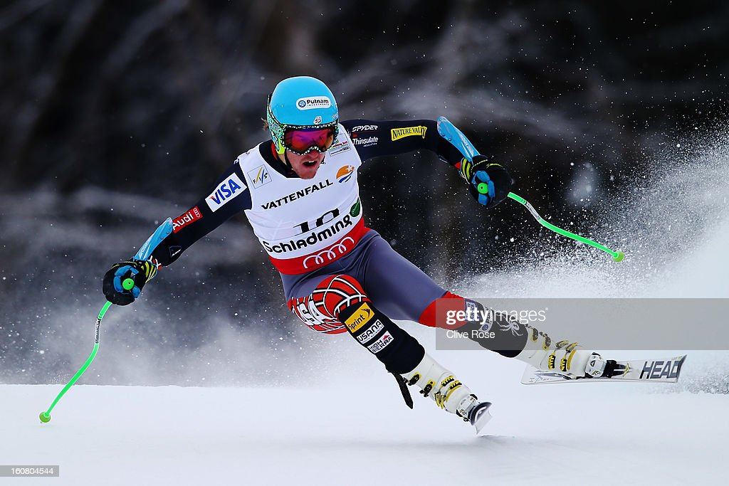Ted Ligety of the United States of America competes in the Men's Super G event during the Alpine FIS Ski World Championships on February 6, 2013 in Schladming, Austria.