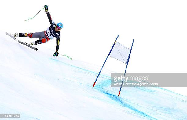 Ted Ligety of the USA competes during the Audi FIS Alpine Ski World Championships Men's Super Combined on February 11 2013 in Schladming Austria