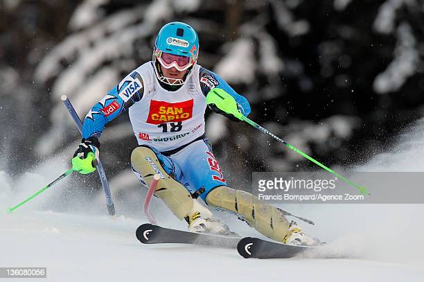 Ted Ligety of the USA during the Audi FIS Alpine Ski World Cup Men's Slalom on December 19 2011 in Alta Badia Italy