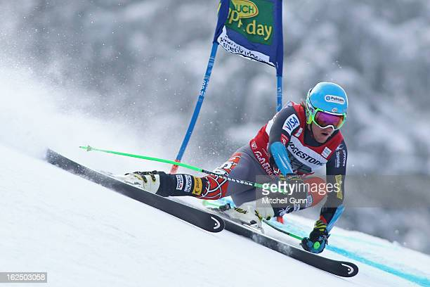 Ted Ligety of the USA races down the course whilst competing in the Audi FIS Alpine Ski World Cup Men's Giant Slalom on February 24 2013 in Garmisch...