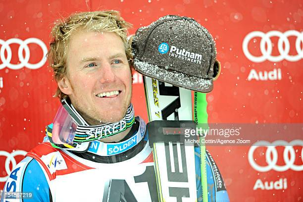 Ted Ligety of the USA takes 1st place during the Audi FIS Alpine Ski World Cup Men's Giant Slalom on October 28 2012 in Solden Austria