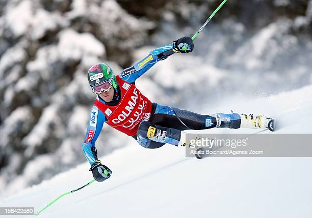 Ted Ligety of the USA takes 1st place during the Audi FIS Alpine Ski World Cup Men's Giant Slalom on December 16, 2012 in Alta Badia, Italy.