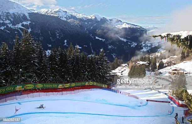 Ted Ligety of the USA takes the 1st place during the Audi FIS Alpine Ski World Cup Men's Super Combined on January 17 2014 in Wengen Switzerland