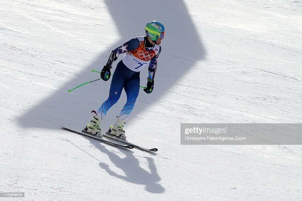 Ted Ligety of the USA wins the gold medal during the Alpine Skiing Men's Giant Slalom at the Sochi 2014 Winter Olympic Games at Rosa Khutor Alpine Centre on February 19, 2014 in Sochi, Russia.