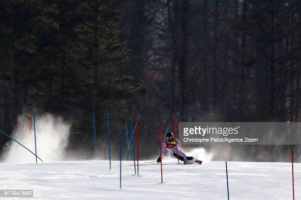 Ted Ligety of USA in action during the Alpine Skiing Men's Combined at Jeongseon Alpine Centre on February 13 2018 in Pyeongchanggun South Korea