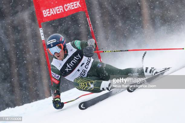 Ted Ligety of USA in action during the Audi FIS Alpine Ski World Cup Men's Giant Slalom on December 8 2019 in Beaver Creek USA