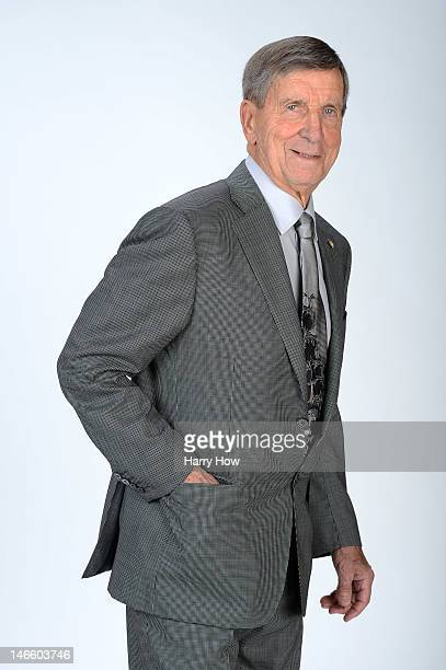 Ted Lindsay former player of the Detroit Red Wings poses for portraits before the 2012 NHL Awards at the Encore Theater at the Wynn Las Vegas on June...