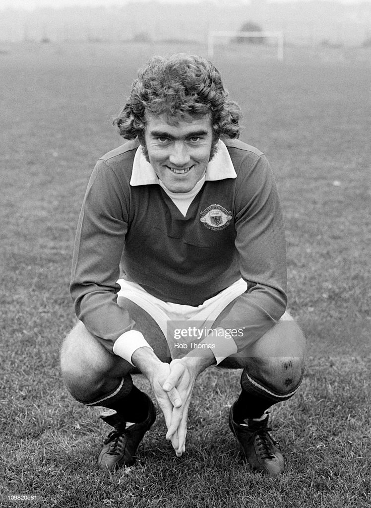 Ted MacDougall of Manchester United at the Cliff training ground in Manchester on 1st October 1972. (Photo by Bob Thomas/Getty Images).