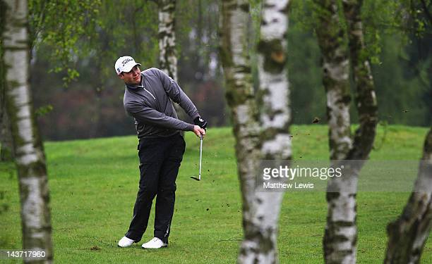 Ted Maher of Great Barr Golf Club plays out of the rough on the 10th hole during the Powerade PGA Assistants' Championship Midlands Regional...