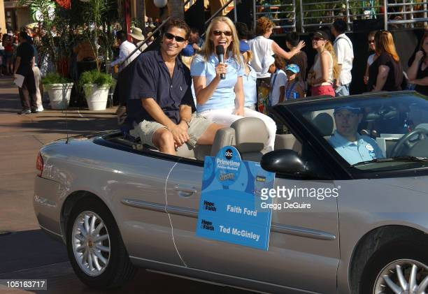 Ted McGinley Faith Ford during ABC Primetime Preview Weekend at Disney's California Adventure in Anaheim California United States