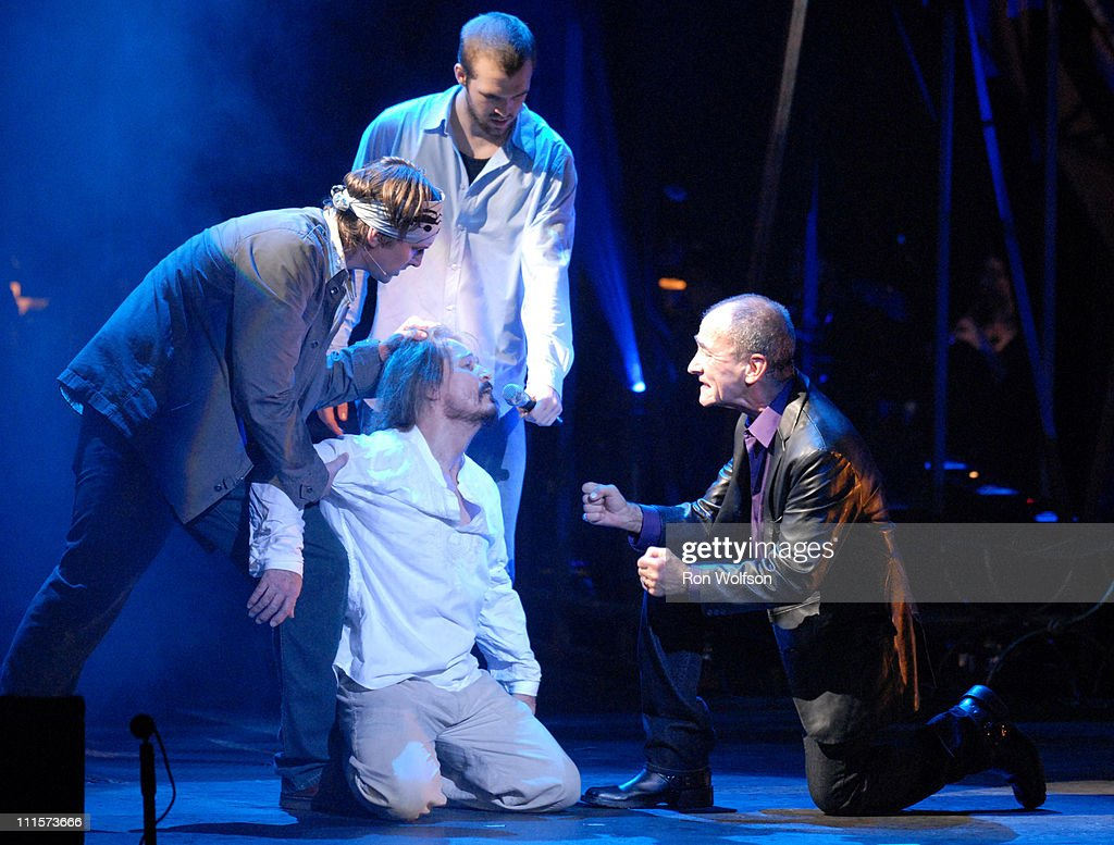 Ted Neeley and Barry Dennen during 'Jesus Christ Superstar' Los Angeles Performance - August 13, 2006 at Ricardo Montalban Theatre in Los Angeles, California, United States.