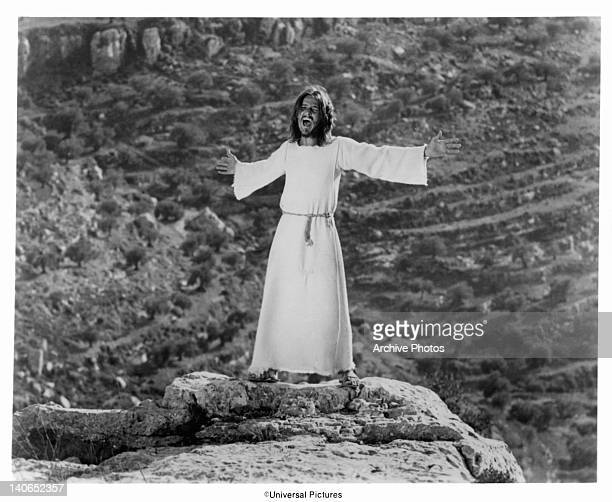Ted Neeley tries to talk to his God in a scene from the film 'Jesus Christ Superstar', 1973.