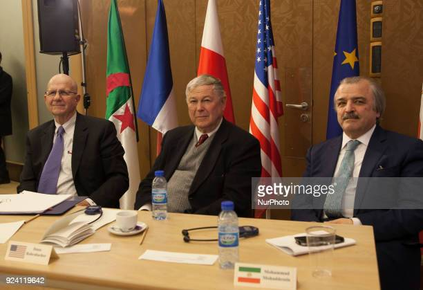 Ted Poe Dana Rohrabacher Mohammad Mohaddessin attend The crossAtlantic Conference on Prospects for Iran Change in 2018 US amp EU Policy on Iran was...
