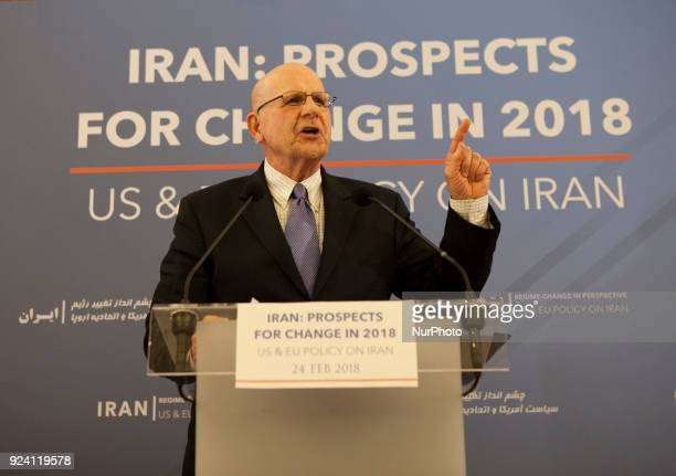 Ted Poe delivery a speachs during an International conference on Prospects for Change in 2018 US amp EU Policy on Iran was held in Maison de La...