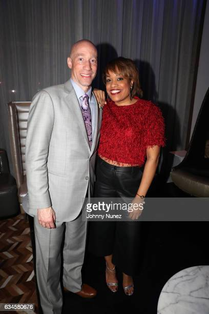 Ted Reid and Michelle Huff attend the Annual PreGrammy Reception hosted by Ted Reid at STK on February 9 2017 in Los Angeles California