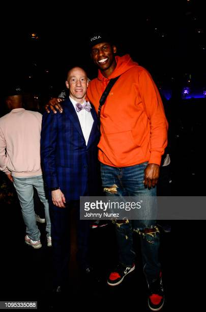 Ted Reid and professional basketball player Al Harrington attend the Ted Reid's PreGrammy Reception at STK Los Angeles on February 7 2019 in Los...