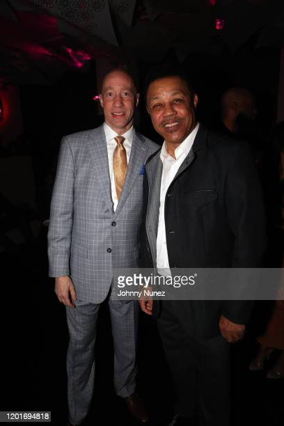 Ted Reid and Reggie Calloway attend Ted Reid's PreGrammy Reception 2020 at The W Hotel on January 23 2020 in Hollywood California