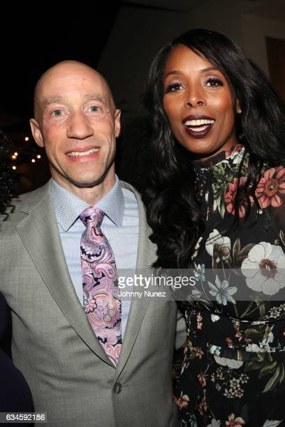 Ted Reid and Tasha Smith attend the Annual PreGrammy Reception hosted by Ted Reid at STK on February 9 2017 in Los Angeles California