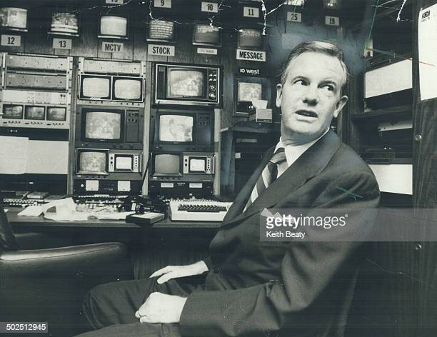 Ted Rogers here in headquarters of his cable TV empire seeks to take over rival Canadian Cable systems