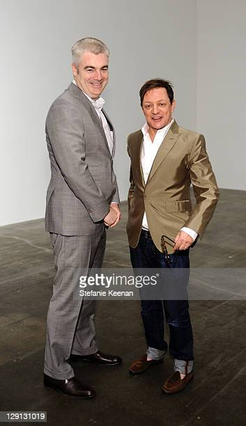 Ted Russell and Matthew Rolston attend Florian MaierAichen At Blume Poe Private Preview And Dinner on April 8 2011 in Los Angeles California