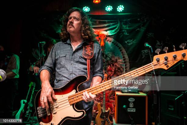 Ted Russell Kamp of the Shooter Jennings band performs at Pappy & Harriet's on August 9, 2018 in Pioneertown, California.