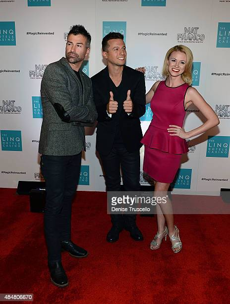 Ted Russell Mat Franco and Caitlin Nash arrive at the grand opening of MAT FRANCO MAGIC REINVENTED NIGHTLY at The LINQ Hotel Casino at The LINQ on...