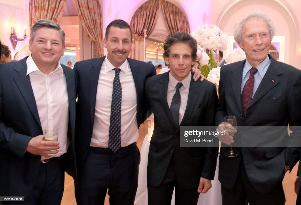 Ted Sarandos, Adam Sandler, Ben Stiller, and Clint Eastwood attend the Vanity Fair and HBO Dinner celebrating the Cannes Film Festival at Hotel du Cap-Eden-Roc on May 20, 2017 in Cap d'Antibes, France.
