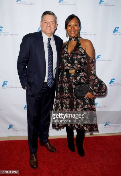 Ted Sarandos and Nicole Avant attend Saban Community Clinic's 50th Anniversary Dinner Gala at The Beverly Hilton Hotel on November 13 2017 in Beverly...