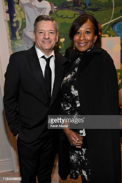 Ted Sarandos and Nicole Avant attend Sean Combs 50th Birthday Bash presented by Ciroc Vodka on December 14 2019 in Los Angeles California