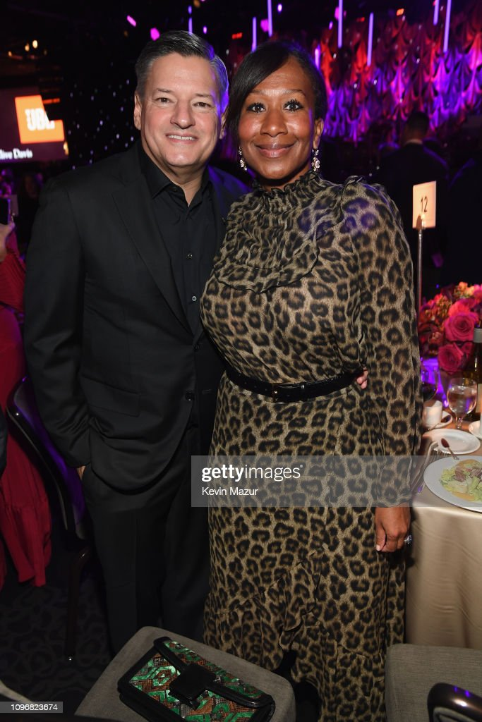 Ted Sarandos and Nicole Avant attend the Pre-GRAMMY Gala and