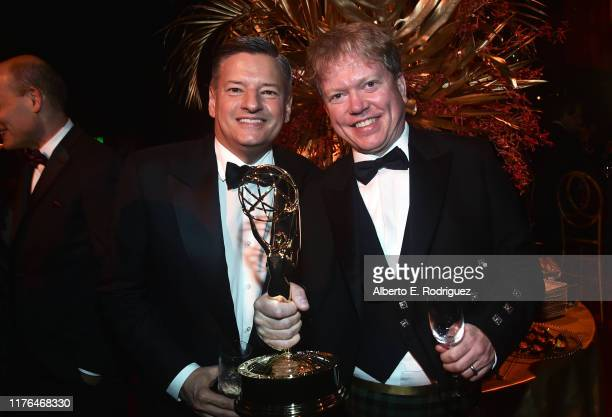 Ted Sarandos and Russell McLean attend the Governors Ball during the 71st Emmy Awards at L.A. Live Event Deck on September 22, 2019 in Los Angeles,...