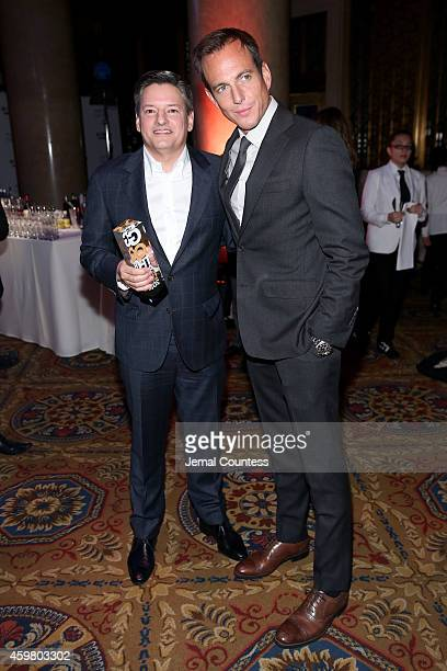 Ted Sarandos and Will Arnett attend IFP's 24th Gotham Independent Film Awards at Cipriani Wall Street on December 1 2014 in New York City