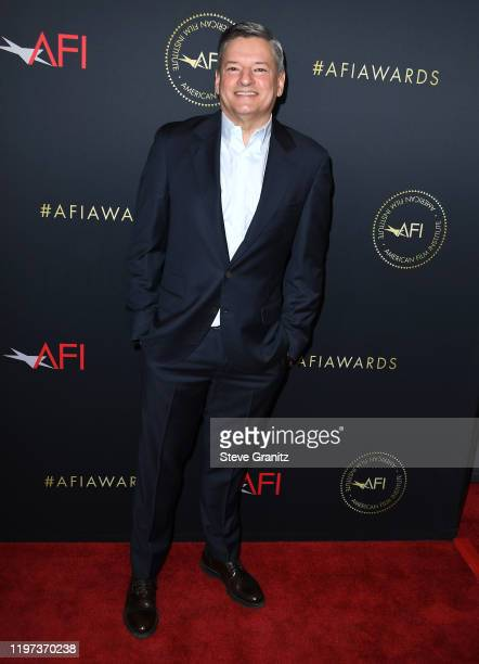 Ted Sarandos arrives at the 20th Annual AFI Awards at Four Seasons Hotel Los Angeles at Beverly Hills on January 03, 2020 in Los Angeles, California.