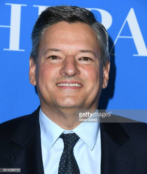 Ted Sarandos arrives at the Hollywood Foreign Press Association's Grants Banquet at The Beverly Hilton Hotel on August 9 2018 in Beverly Hills...