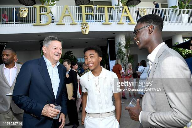 Ted Sarandos Asante Blackk and Ethan Herisse attend the BAFTA Los Angeles BBC America TV Tea Party 2019 at The Beverly Hilton Hotel on September 21...