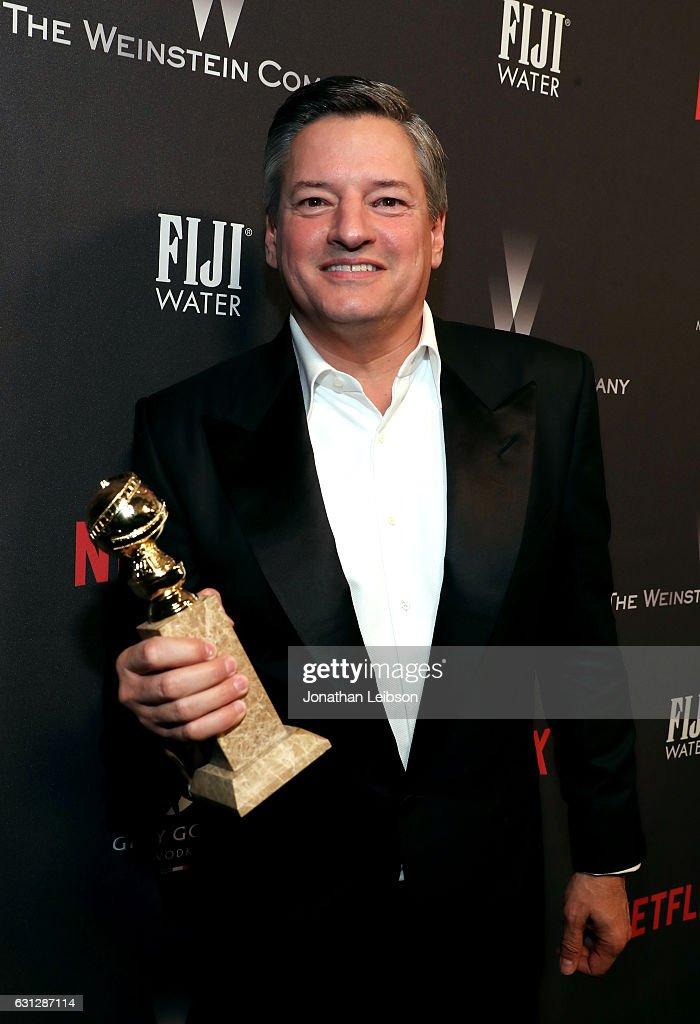 Ted Sarandos At The Weinstein Company And Netflix Golden Globes Party Presented With Fiji Water