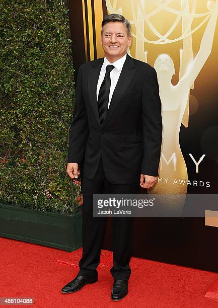Ted Sarandos attends the 2015 Creative Arts Emmy Awards at Microsoft Theater on September 12 2015 in Los Angeles California