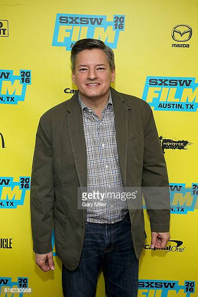 Ted Sarandos attends the premiere of PeeWee's Big Holiday at the Paramount Theater during the South by Southwest Film Festival on March 17 2016 in...