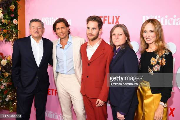 Ted Sarandos Brad Falchuk Ben Platt Cindy Holland and Dana Walden attend Netflix's The Politician Season One Premiere at DGA Theater on September 26...