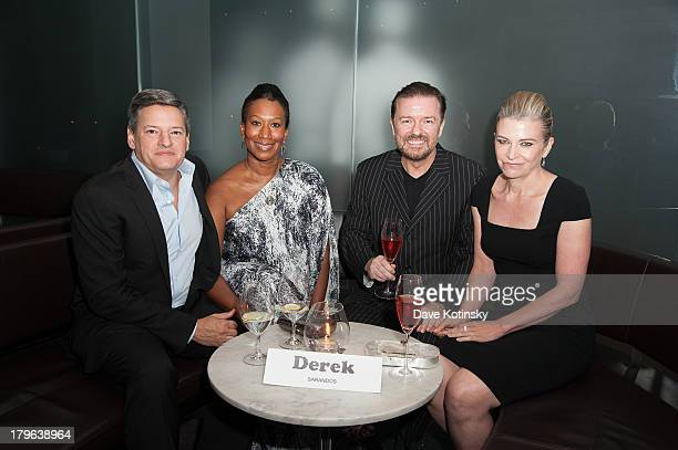 Ted Sarandos Chief Content Officer of Netflix Nicole Avant Ricky Gervais and Jane Fallon attend 'Derek' New York Premiere after party at MOMA on...