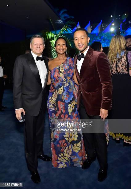 Ted Sarandos LACMA Trustee Nicole Avant and John Legend attend the 2019 LACMA Art Film Gala Presented By Gucci at LACMA on November 02 2019 in Los...