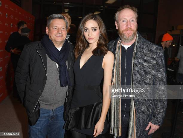 Ted Sarandos Netflix Chief Content Officer Emmy Rossum and Matt Walsh attend the 'A Futile And Stupid Gesture' Premiere during the 2018 Sundance Film...