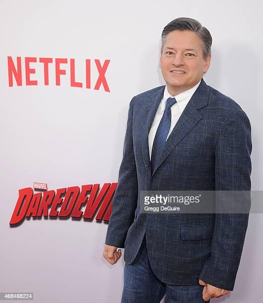 Ted Sarandos of Netflix arrives at the premiere Of Netflix's Marvel's Daredevil at Regal Cinemas LA Live on April 2 2015 in Los Angeles California