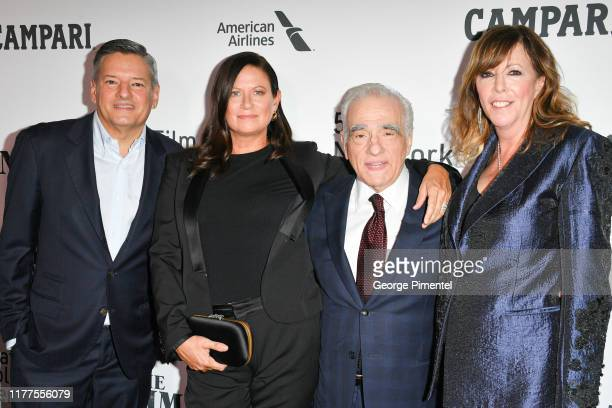 Ted Sarandos Producer Emma Tillinger Koskoff Director Martin Scorsese and Producer Jane Rosenthal attend The Irishman premiere during the 57th New...