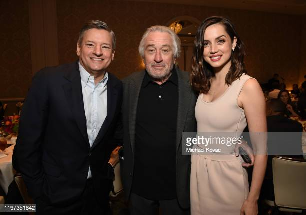 Ted Sarandos Robert De Niro and Ana de Armas attend the 20th Annual AFI Awards at Four Seasons Hotel Los Angeles at Beverly Hills on January 03 2020...