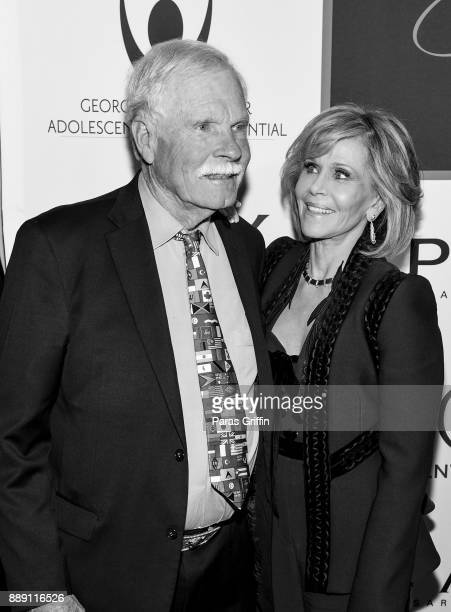 Ted Turner and Jane Fonda attend GCAPP 'Eight Decades of Jane' in celebration of Jane Fonda's 80th birthday at The Whitley on December 9 2017 in...