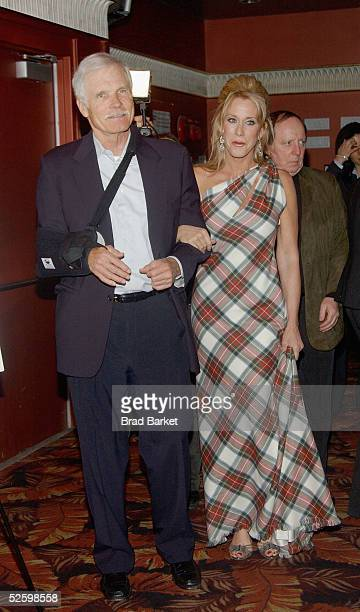 Ted Turner arrives to the Johnnie Walker Presents Dressed to Kilt fashion show at the Copacabana on April 6 2005 in New York