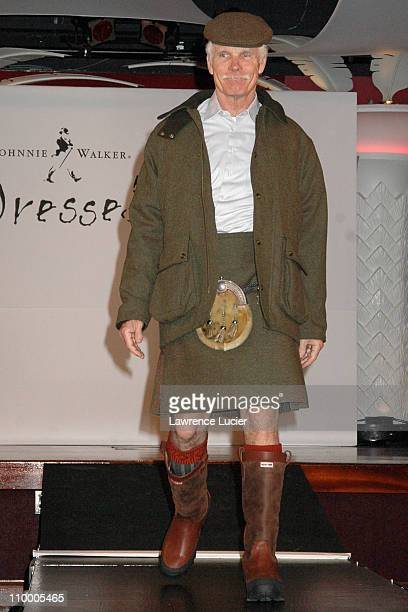 Ted Turner during Johnnie Walker Presents Dressed to Kilt Arrivals and Runway at Copacabana in New York City New York United States