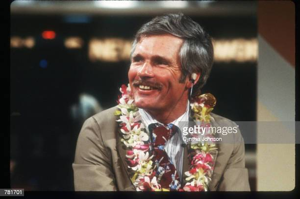Ted Turner is interviewed at the CNN studio in Atlanta GA Turner debuts his twentyfour hour news channel The Cable News Network this month amidst...